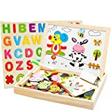 Joymoze-Wooden-Multifunctional-Magnetic-Jigsaw-Puzzle-Baby-Toys-Animal-Easel-Doodle-Drawing-Board-For-Children-be-used-in-Education-Expand-Imagination