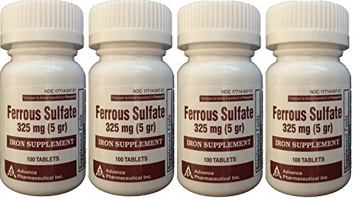Ferrous Sulfate Iron Supplement 325 mg  Generic for Feosol R