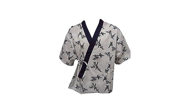 Amazon.com: White Bamboo Print Sushi Chef Uniform (Medium ...