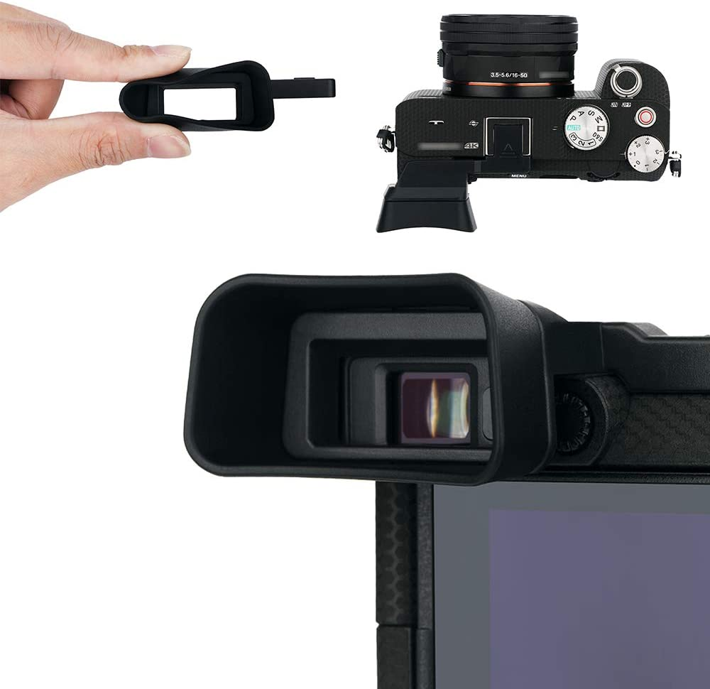 Kiwifotos Soft Eyecup Eyepiece Compatible with Sony Alpha a7C Viewfinder