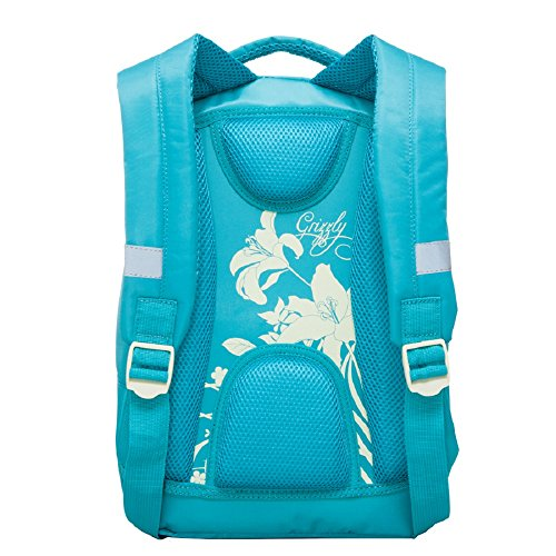 cm L RG Flowers 12 Grizzly 41 2 Turquoise Backpack 1 657 Z7g0gp