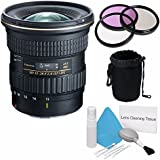 Tokina 11-20mm f/2.8 AT-X PRO DX Lens for Canon EF (International Model) No Warranty+Deluxe Cleaning Kit + 82mm 3 Piece Filter Kit + Deluxe Lens Pouch Bundle 6