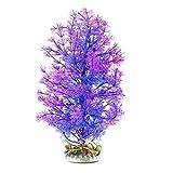 Product review for Saim Aquarium Artificial Plastic Plant Decor Fish Tank Ornament Purple Blue 10 inch Height