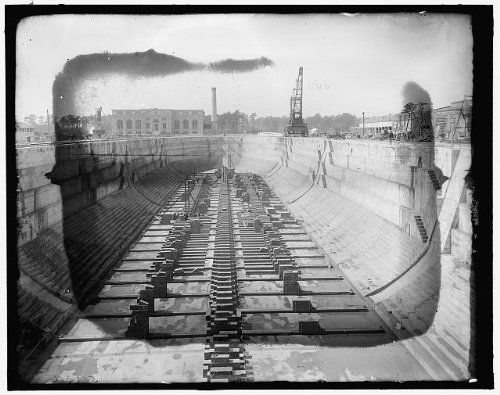 Photo: Great dry docks,stations,boats,Charleston Naval ship yard,South Carolina,SC,1900
