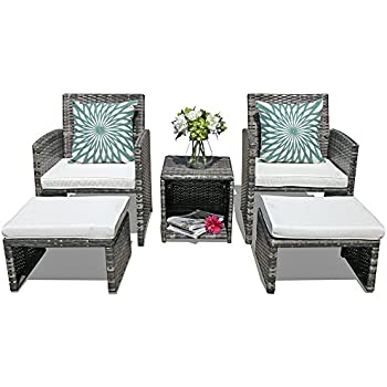 Amazon Com Orange Casual 5 Pcs Outdoor Patio Furniture Set All