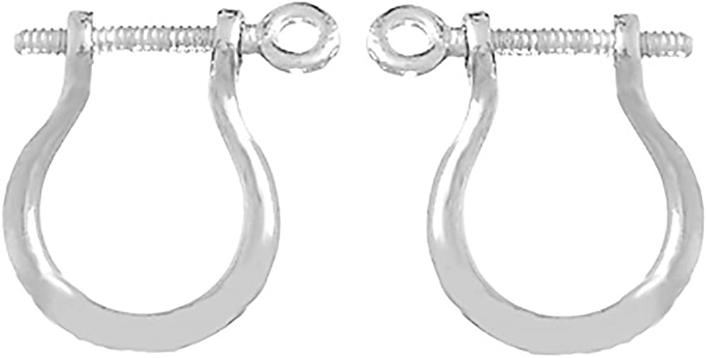 925 Sterling Silver Mariners Trend Shackle Link Screw Earrings with 1mm Thick Post