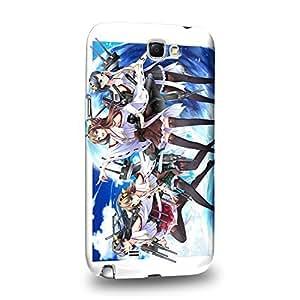 Case88 Premium Designs Kantai Collection Kancolle battleship Kongo Hiei Haruna Kirishima 0700 Protective Snap-on Hard Back Case Cover for Samsung Galaxy Note 2