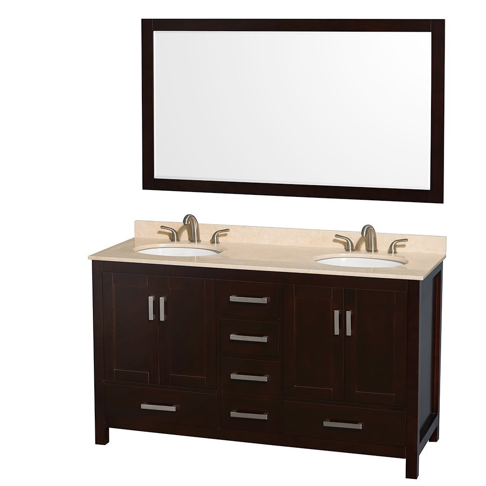 Wyndham Collection Sheffield 60 inch Double Bathroom ...