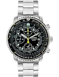 Seiko Mens SNA411 Flight Alarm Chronograph Watch