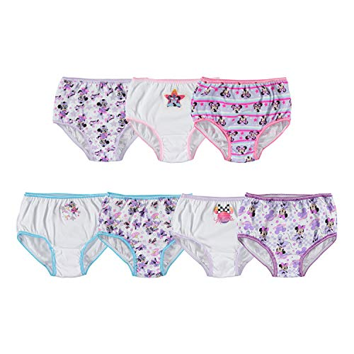 Disney Girls#039 Toddler Minnie Seven Pack Brief Underwear Multi 2T/3T