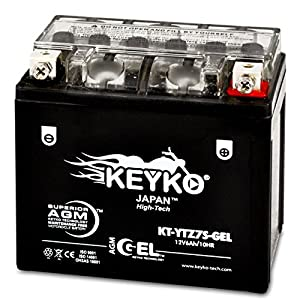 Honda 110cc C110 2009-2010 YTZ7S Powersport Motorcycle YTZ7S-BS Battery - Maintenance Free AGM GEL Extreme High Performance 12V Replacement Genuine KEYKO