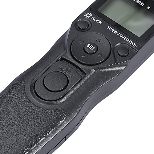 Neewer Shutter Release Timer Remote Control Cord For Canon EOS 550D/Rebel T2i, 450D/XSi, 400D/XTi, 350D/XT, 300D, 60D, 600D, 500D, 1100D, 1000D, 1D, 1D Mark II, 1D Mark II N, 1D Mark III, 1Ds, 1Ds Mark II, 1Ds Mark III, 10D, 20D, 30D, 40D, 50D, EOS Film SLR EOS 1V 1VHS 3