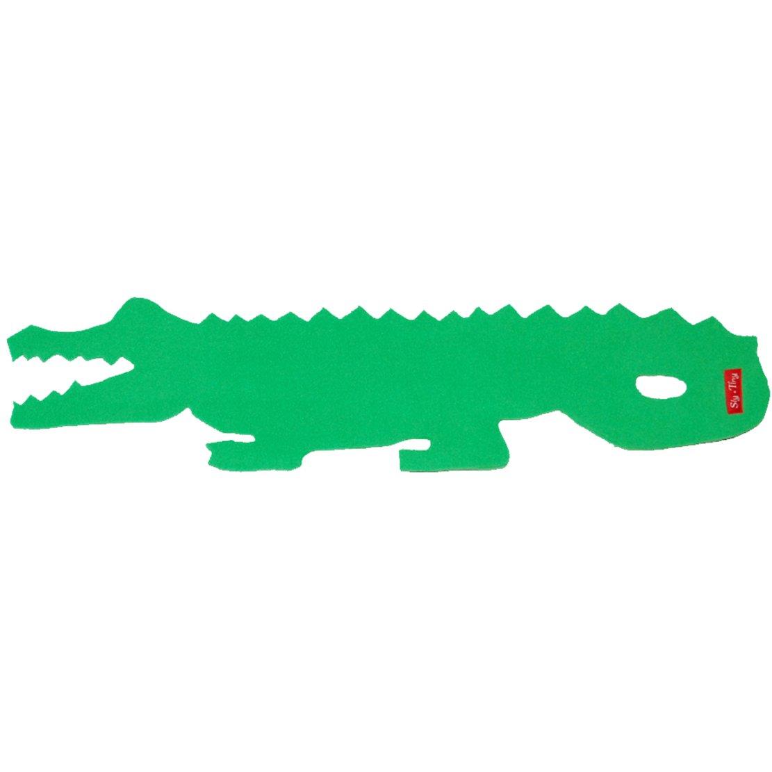 Childrens verde bufanda de forro polar de piel de cocodrilo ...