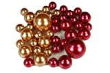 BULK BUY !!! Elegant Vase Fillers 330 Assorted Pearls Beads - Unique Decorative Gems Wholesale (ANTIQUE GOLD & DEEP RED)