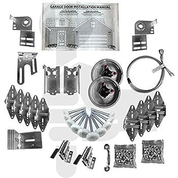 Garage Door Hardware Kit Residential Complete Medium Duty 14 Ga 7