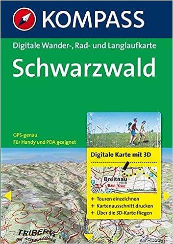 Karte Schwarzwald Zum Ausdrucken.Schwarzwald Digitale Wander Rad Und Langlaufkarte Gps Genau Kompass Digitale Karten Band 4770