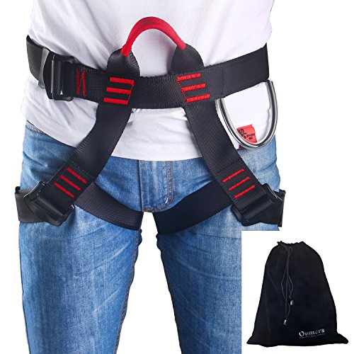 Climbing Harness, Oumers Safe Seat Belts For Mountaineering Outward Band Fire Rescue Working on the Higher Level