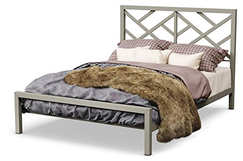 - Amisco Windmill Platform Bed in Mat Light Gray Finish (Queen: 85.875 in. L x 61.5 in. W x 47.25 in. H)