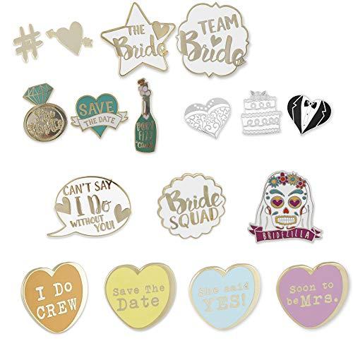 WIZARDPINS Full Wedding Pin Set Hard Enamel Lapel Pin– 17 Pins by WIZARDPINS (Image #1)