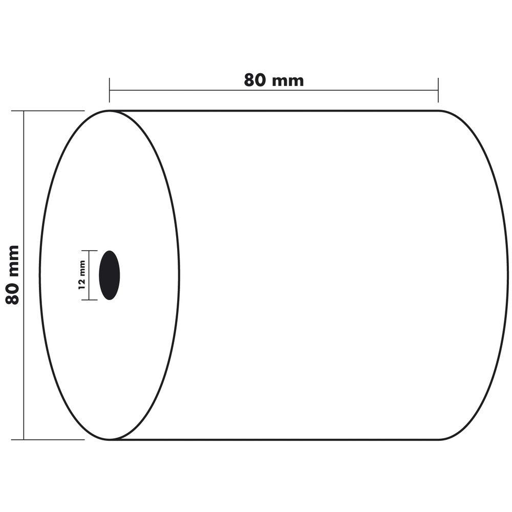57 mm x 18 m VE = 10 EXACOMPTA Thermorollen f/¸r Kassensysteme