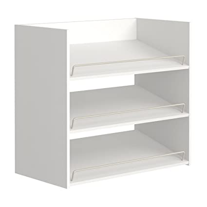 Amazon Com Closet Maid 14905 Impressions 3 Shelf White Shoe