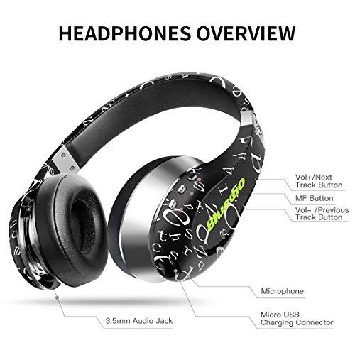 Bluedio A (Air) Stylish Wireless Bluetooth Headphones with Mic (Black)