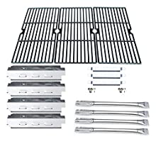 Direct store Parts Kit DG159 Replacement Charbroil 463420507,463420509,463460708,463460710 Gas Grill Parts Kit (SS Burner + SS Carry-Over Tubes + SS Heat Plate + Porcelain Cast Iron Cooking Grid)