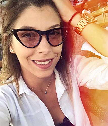 FEIDU Fashion Cat Eye Sunglasses for Women Retro shades Glasses FD 4005 Pink/Black