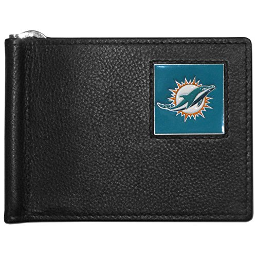 NFL Miami Dolphins Leather Bill Clip Wallet