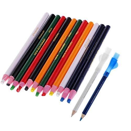 IPOTCH マーカーペン チャコペン 縫製チョークペン ペンシル 縫製マーキング 6色 約14個  実用