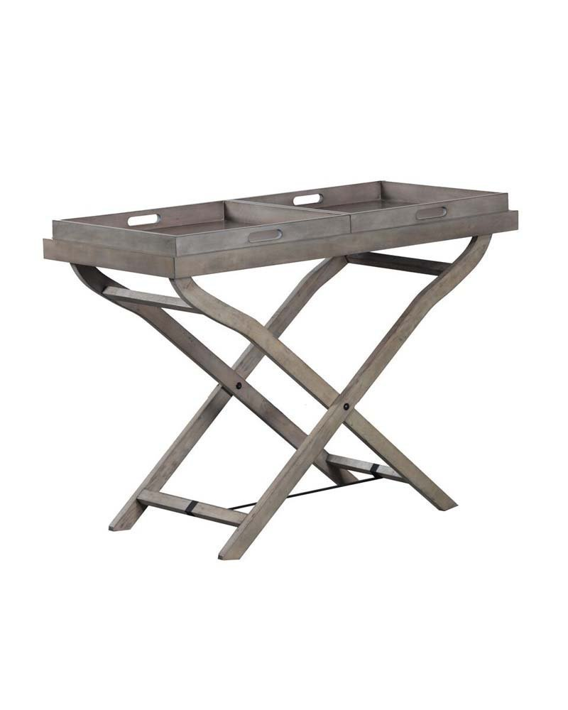 Powell Furniture 15A1004R Jenette Square Storage Tray Table