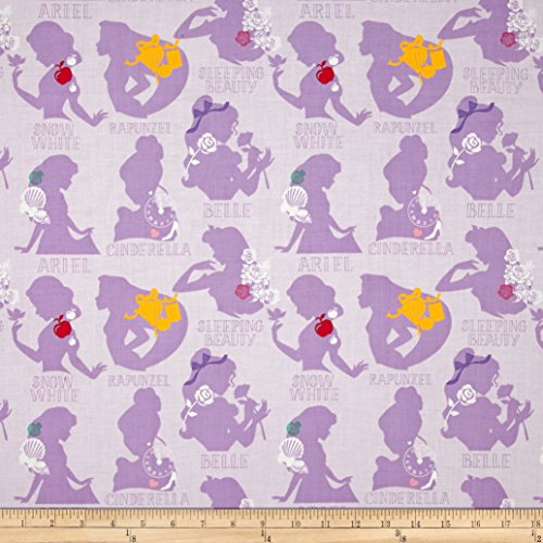 Eugene Textiles Disney Princess Cameo Purple Fabric by The Yard, -