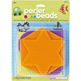 Perler Fun Fusion Bead Pegboards 5/Pkg-Large Shapes