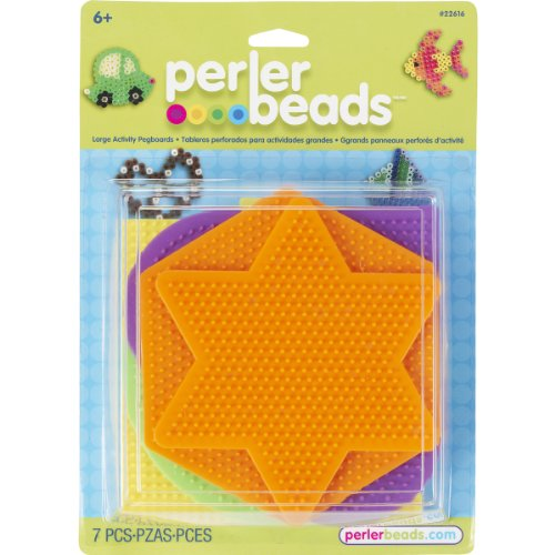 brand-new-perler-pegboards-5-pkg-assorted-shapes-colors-brand-new