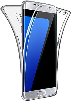 SDTEK Funda para Samsung Galaxy S7 Edge 360 Doble Delantera [Transparente Carcasa] Full Body Case Bumper Cover Suave Silicona Samsung Galaxy S7 Edge: Amazon.es: Electrónica
