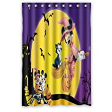 "ScottShop Custom Mickey Mouse Halloween Shower Curtain Stylish Waterproof Polyester Fabric Bathroom Deco 48 ""x 72"" Inch"