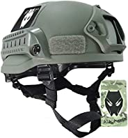 ATAIRSOFT Tactical Airsoft Paintball MICH 2002 Helmet with Side Rail & NVG M