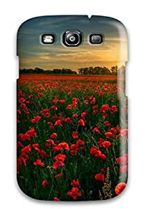 Flexible Tpu Back Case Cover For Galaxy S3 - Red Flower Garden by lolosakes