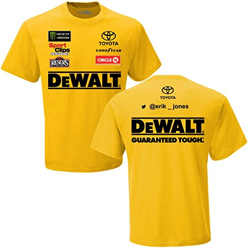 Checkered Flag Erik Jones 2018 DeWalt Uniform NASCAR T-Shirt (Large)
