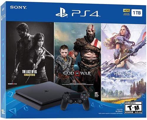 Sony Play Station 4 2TB HDD Only on Playstation PS4 Console Slim Bundle - Juego de disco duro de 2 TB, incluye 3 juegos (los últimos de nosotros, Dios de la guerra,