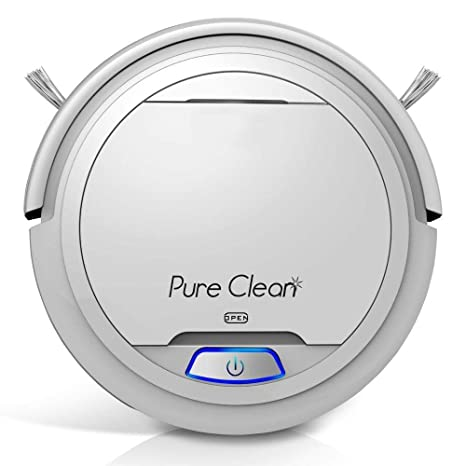 PUCRC25 Automatic Robot Vacuum Cleaner - Lithium Battery 90 Min Run Time - Robotic Auto Home Cleaning for Clean Carpet and Hardwood Floor Dry Mopping ...
