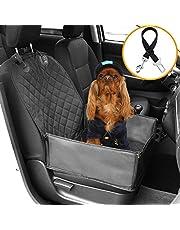 HoneyGuaridan Autoschondecken für Hunde,Wasserdichter Haustier Vordersitzbezug für Autos Hund-Autositzbezug mit Sicherheitsgurt und stark gepolsterten Seiten, Entwickelt für Autos, LKWs und SUVs