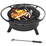 Merax 30-Inch Black Fire Pit Fire Bowl