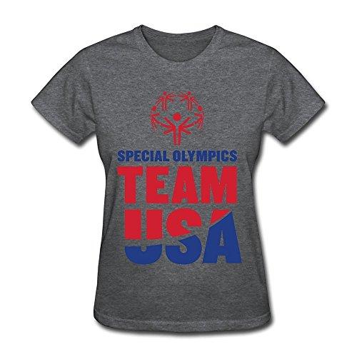 Women's Special Olympics World Sports Team Usa T-shirt Size XL DeepHeather
