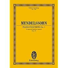 Piano Concerto No. 1, Op. 25 in G Minor: Study Score