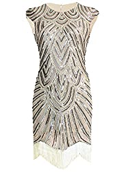 Deco Inspired Tassel Beaded Flapper Dress