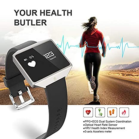 Amazon.com: Reloj inteligente GFiD con ECG + PPG, monitor de ...
