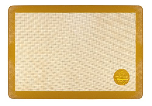 Mrs. Anderson's Baking Non-Stick Silicone Baking Mat, US Half Size, 11.625-Inch x 16.5-Inch ()