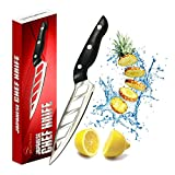 Japanese Chef'S Knife 6 Inch Never Needs Sharpening Ergonomic Stainless Steel Super Sharp Pro Kitchen Knives Balanced Strong Light Top Quality Chopping Slicing Dicing Fruits Vegetables,Fish,Meat