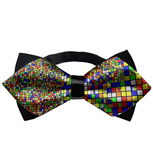 YEAHSPACE Mens Formal classical Rubik's Banded Pre-tied Bow Ties